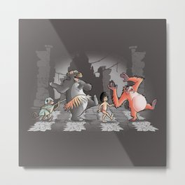 Mowgli & Friends Metal Print