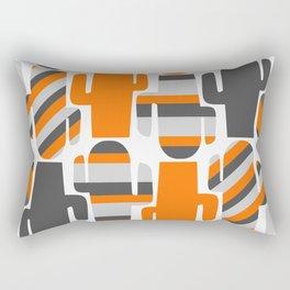 Modern striped cacti Rectangular Pillow