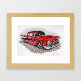 57 Chevy Framed Art Print