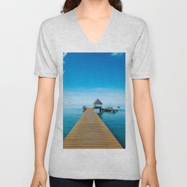 Tahiti Boat Dock Unisex V-Neck