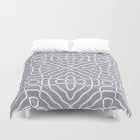 tesla Duvet Covers featuring Tesla Pattern 3 by BeverlyJane