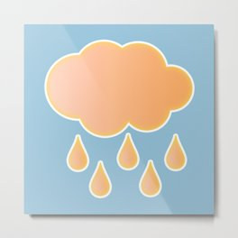orange cloud, rainy day and blue background Metal Print