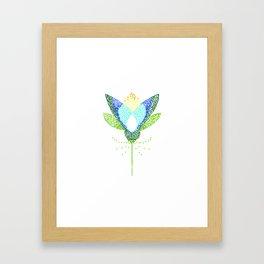 Lotus skeleton Framed Art Print