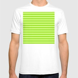 St. Patrick's Day Striped Pattern In Lucky Bright Green T-shirt