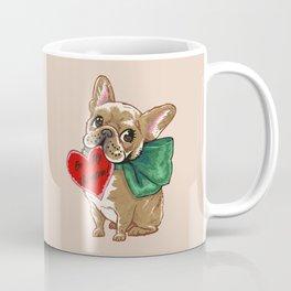 Be My Valentine Frenchie Coffee Mug