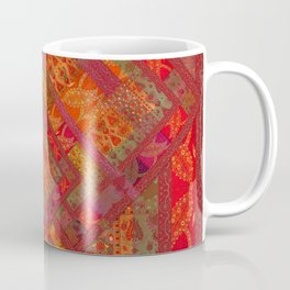 Rose vintage textile patches 02 Coffee Mug