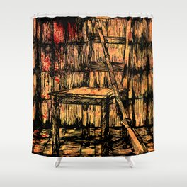 Full metal chair Shower Curtain