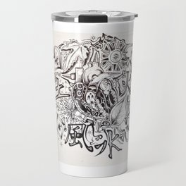 """The Fours"" 4 chambers to the heart....shows 4 seasons and so on. Travel Mug"