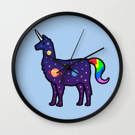 Space Llamacorn Wall Clock
