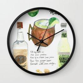 Austin Mule Cocktail Recipe Wall Clock