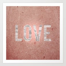 Love in a Word  Art Print