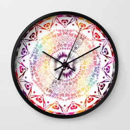 Radiant Om Mandala Wall Clock