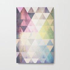 Geometric Groove Metal Print