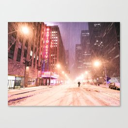 Snowstorm in New York City Canvas Print