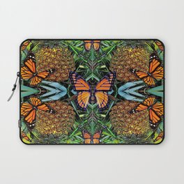 MONARCH BUTTERFLY PINEAPPLE ABSTRACT PATTERN Laptop Sleeve