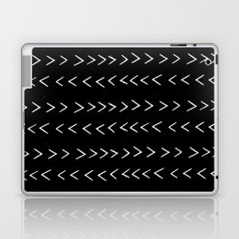 mudcloth 14 minimal textured black and white pattern home decor minimalist beach Laptop & iPad Skin
