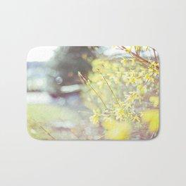 Yellow Forsythia Bath Mat