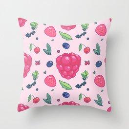 Berry pattern Throw Pillow