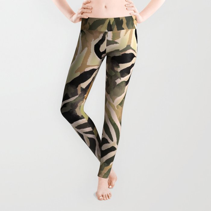 Vintage Leaf Abstract Leggings