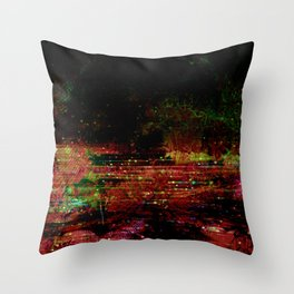 Dark Autumn Abstract Throw Pillow