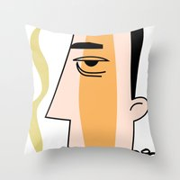 cigarettes Throw Pillows featuring Cigarettes by Brian Sisson