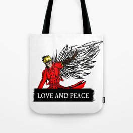 love and peace Tote Bag