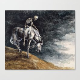 Skeleton Riding a Pale Horse Canvas Print
