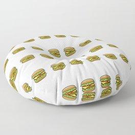 Hamburger Repeat Pattern Floor Pillow