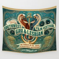lesbian Wall Tapestries featuring Southwest Gay & Lesbian Film Festival 2014 by Way OUT West Film Fest
