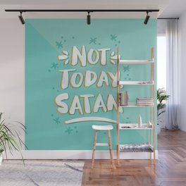 Not Today, Satan – Mint & Gold Palette Wall Mural