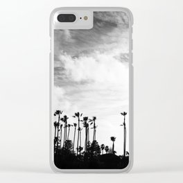 Palm Trees Standing Tall Clear iPhone Case