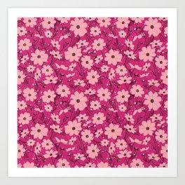 Cosmea pink Art Print
