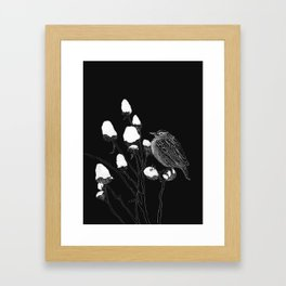 Minimal Bird Framed Art Print