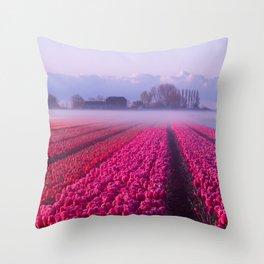 My tulip fever Throw Pillow