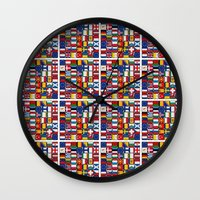 europe Wall Clocks featuring Europe/Europa by MehrFarbeimLeben