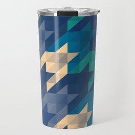 Origami houndstooth blues Travel Mug