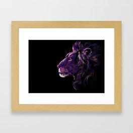 Magenta Lion Framed Art Print