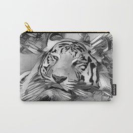 AnimalArtBW_Tiger_20170603_by_JAMColors Carry-All Pouch