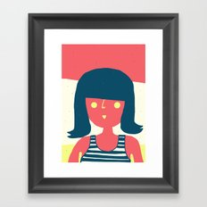 Self-portrait Waiting for Summer Framed Art Print