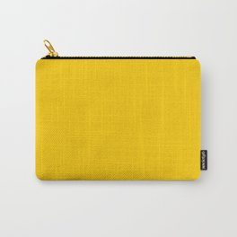 Orange Yellow Solid Color Carry-All Pouch