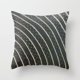 Dotted Soundwaves Throw Pillow
