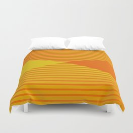 Yellow stripes and balls ... Duvet Cover