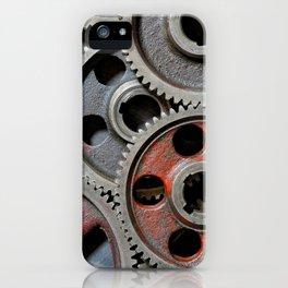 Group of old steel cogwheels iPhone Case
