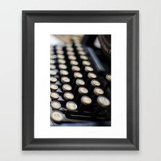 typewriter Framed Art Print