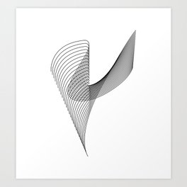 """""""Linear Collection"""" - Minimal Letter Y Print Art Print"""