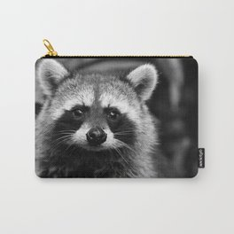 Racoon B & W Carry-All Pouch