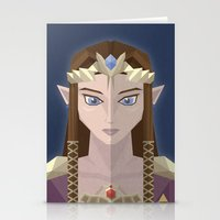 hyrule Stationery Cards featuring The Princess of Hyrule by John Mehrkens