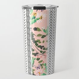 Pattern flowers and cactus Travel Mug