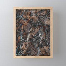 Chocolate Crack Framed Mini Art Print