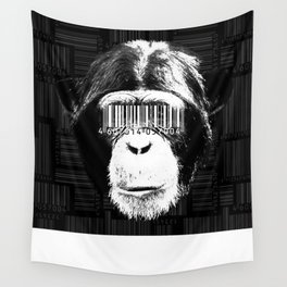 Barcode ape Wall Tapestry